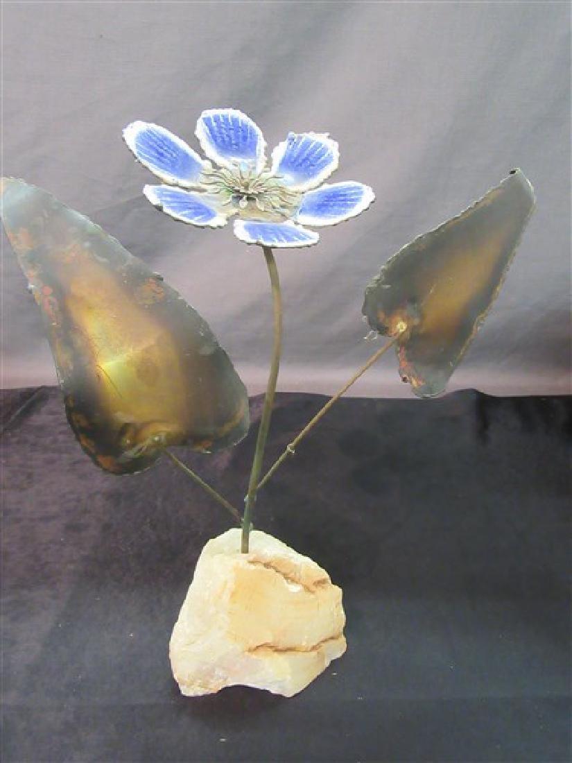 Curtis Jere Enameled Flower Sculpture 1968