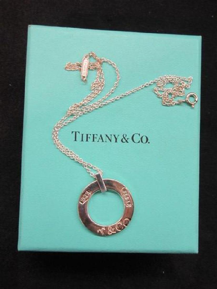 Tiffany & Co. 1837 Sterling Circle Pendant Necklace