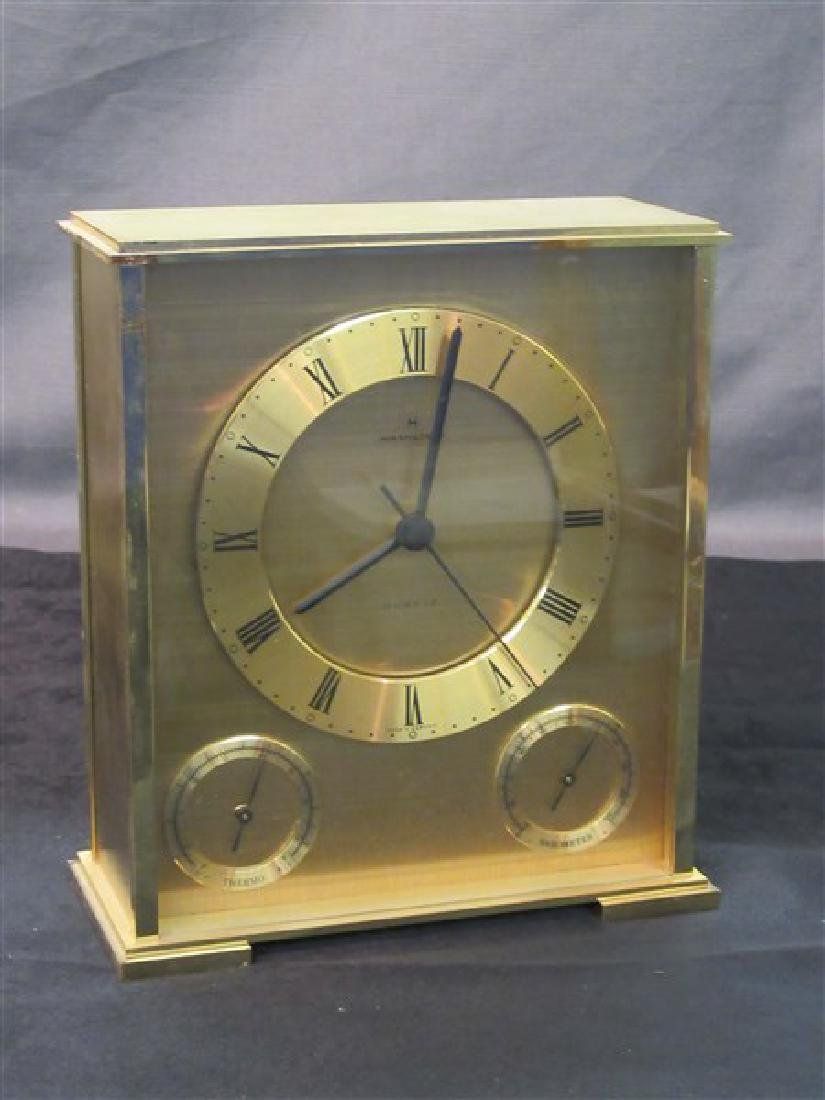 Mid Century Hamilton Brass Mantel Clock