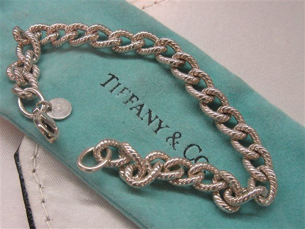 Tiffany & Co Fancy Link Sterling Silver Bracelet