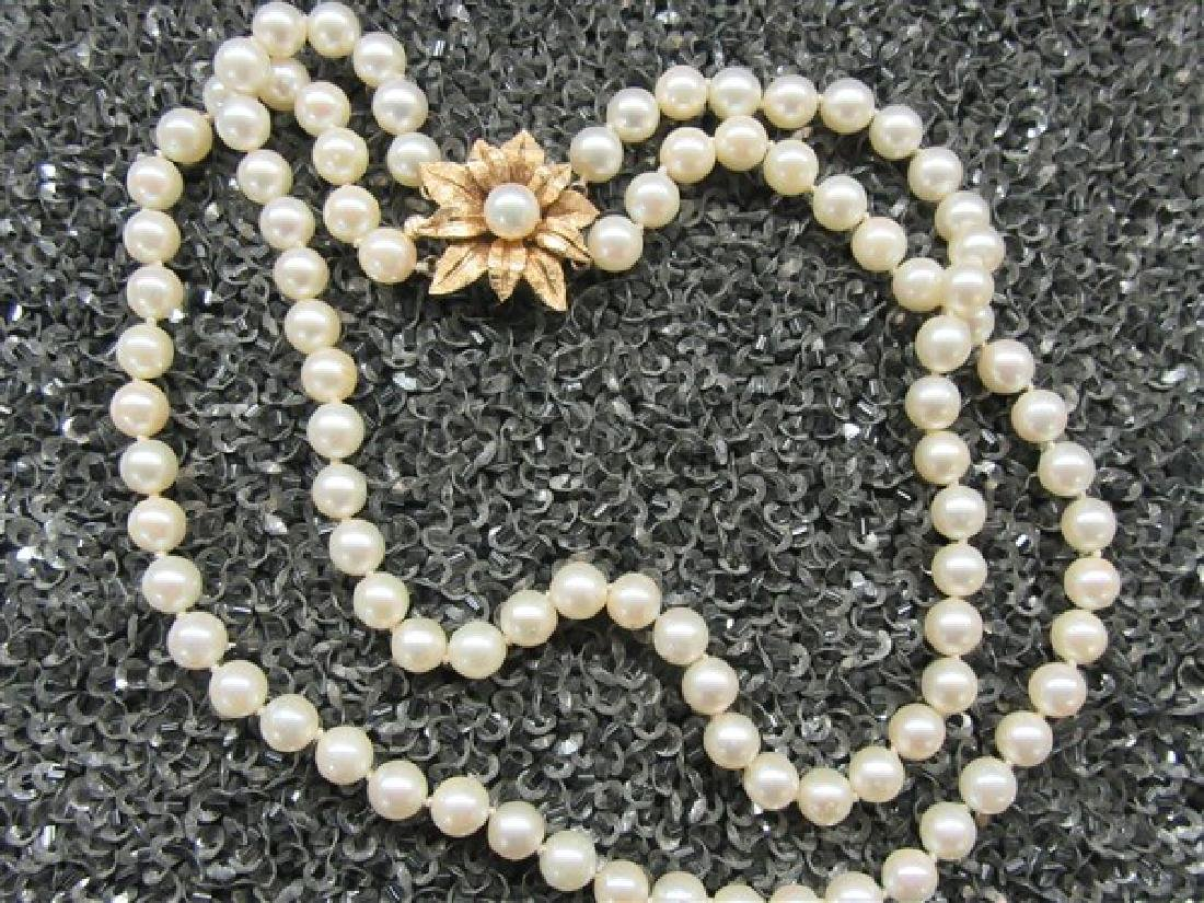 Double Strand Freshwater Pearl Choker Necklace