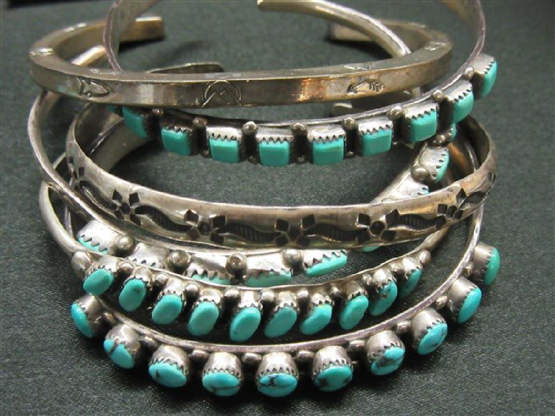 Six (6) Indian Silver Cuff Bracelets