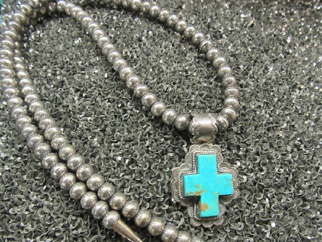 Indian Silver Cross Necklace