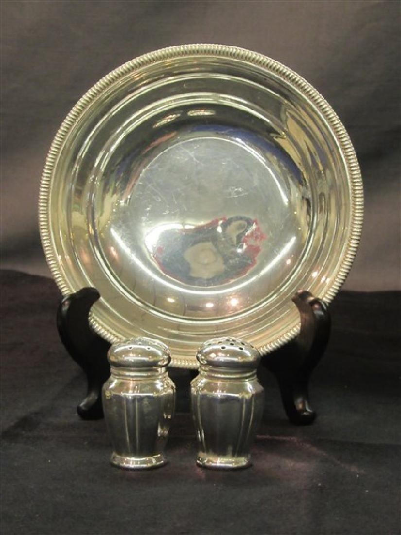 Gorham Sterling Silver Bowl, Salt & Pepper Shakers