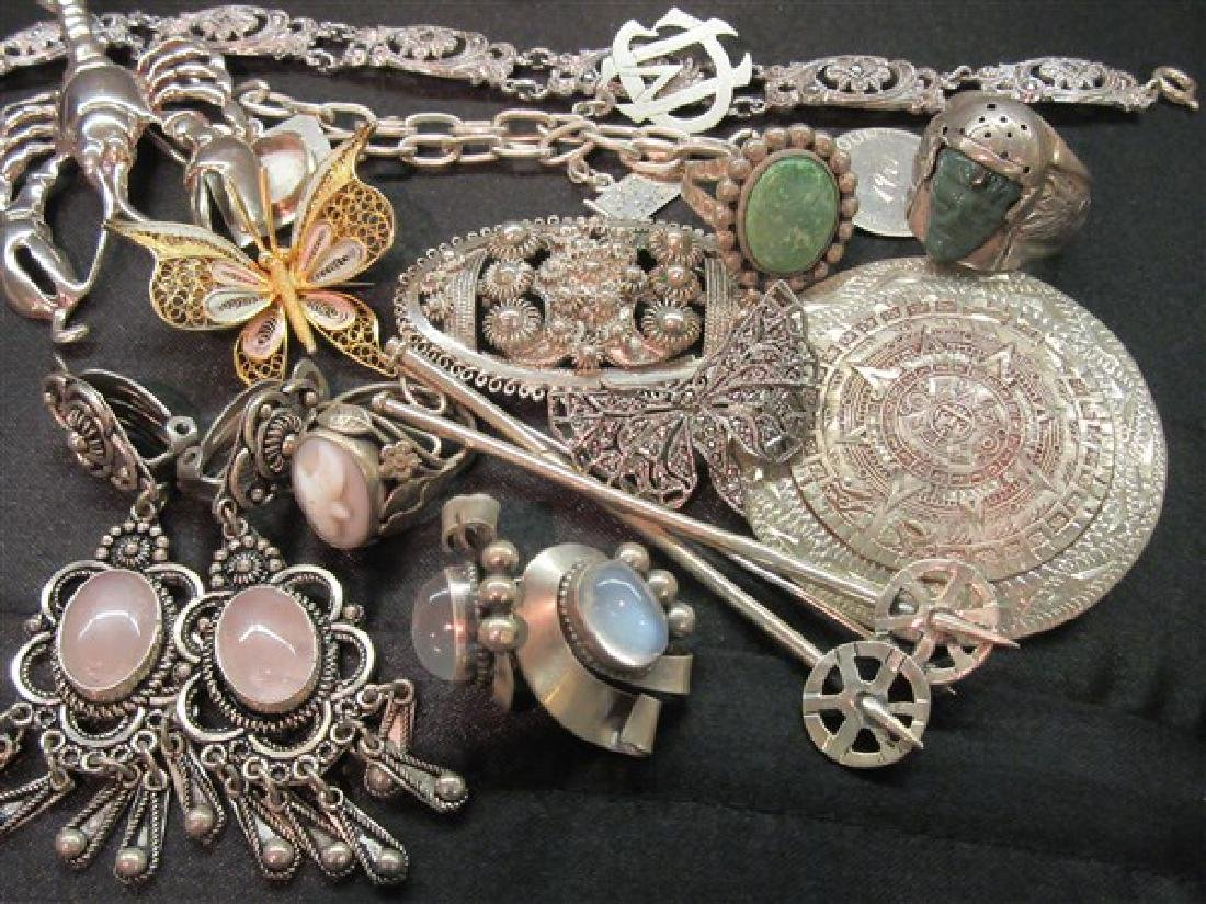 Estate Vintage Sterling Silver Jewelry Lot