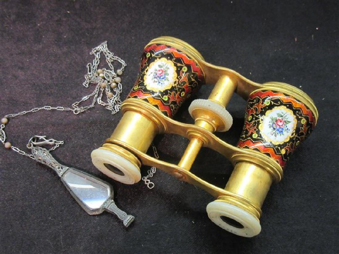 French Enameled Opera Glasses