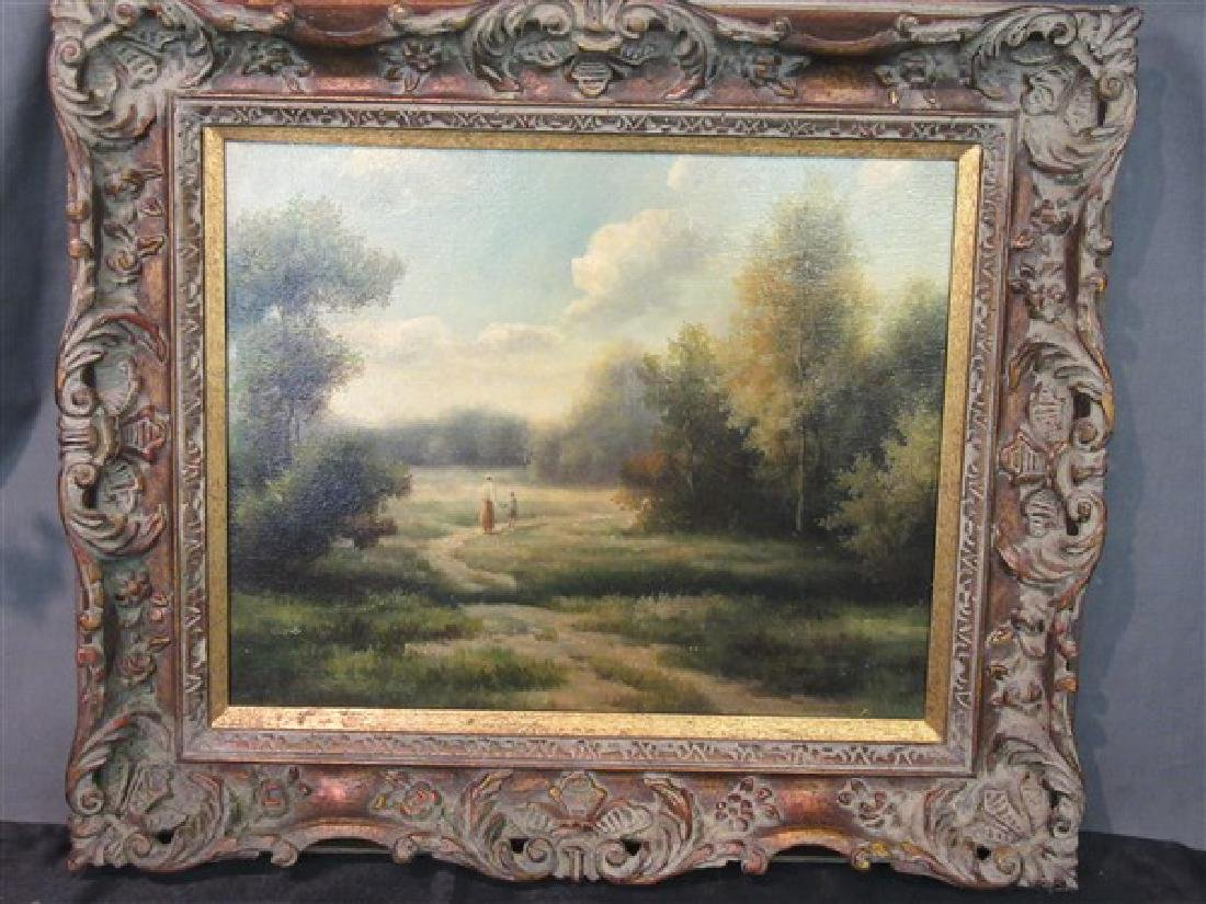 American Landscape Oil on Canvas Painting