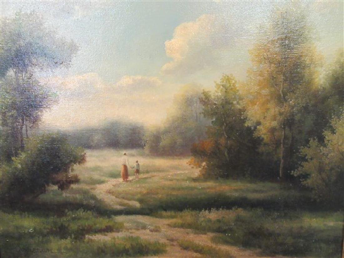 American Landscape Oil on Canvas Painting - 2