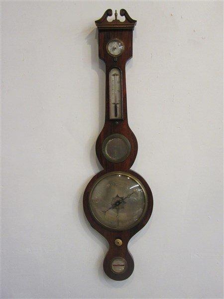 19th c. English Mahogany Barometer