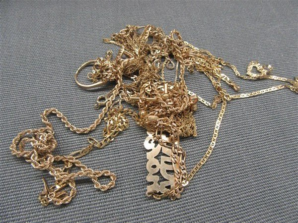 Estate 10k & 14k Gold Jewelry Lot