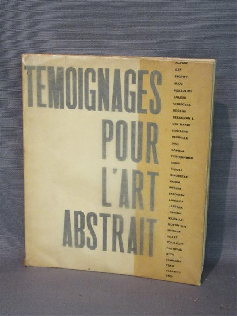 Temoignages Pour L'Art Abstrait w/ Lithographs 1952