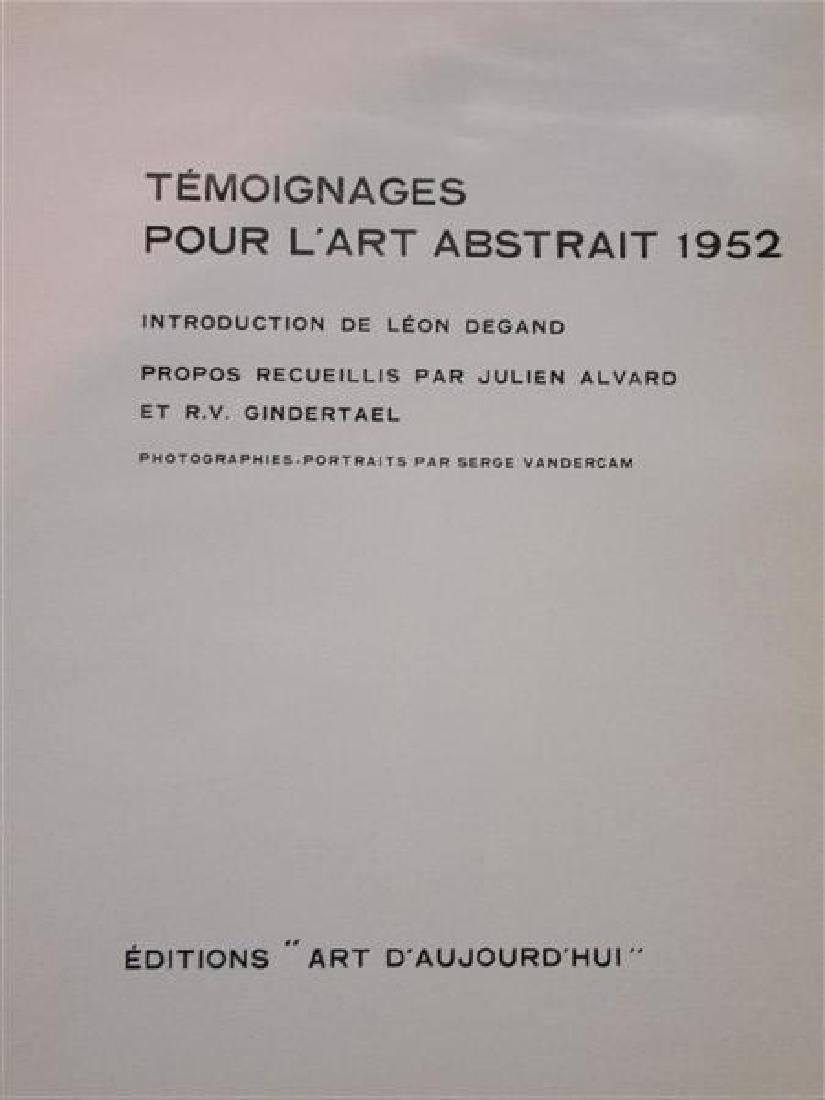 Temoignages Pour L'Art Abstrait w/ Lithographs 1952 - 4