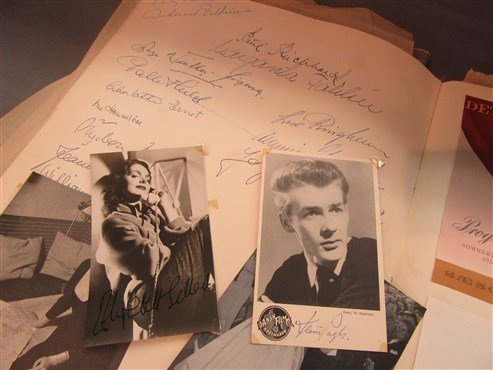 1950's Danish And American Actor's Autograph Scrapbook - 6