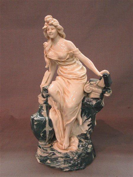 Royal Dux Porcelain Maiden