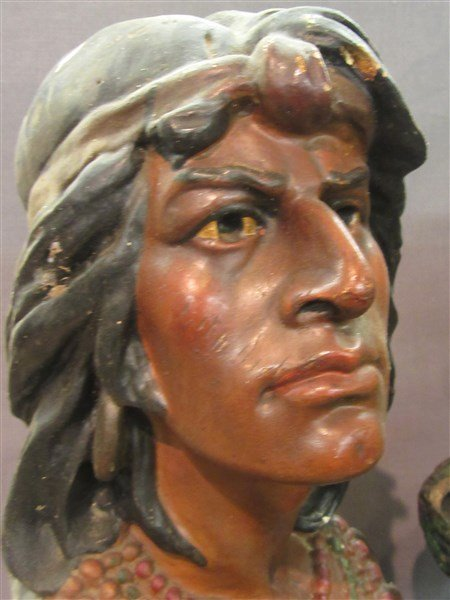 Two (2) Vintage Advertising Plaster Cigar Store Indians - 4