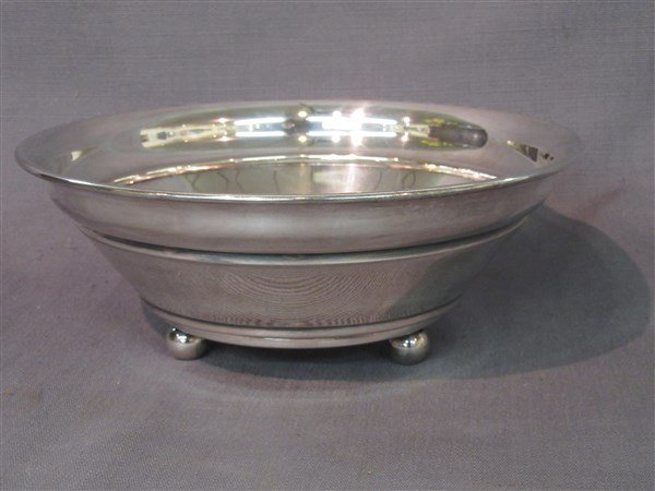 Swid Powell Silver Plate  Ball Footed Serving Bowl