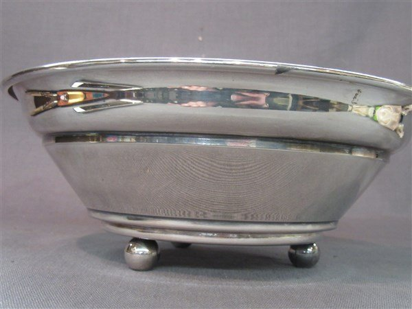 Swid Powell Silver Plate  Ball Footed Serving Bowl - 3