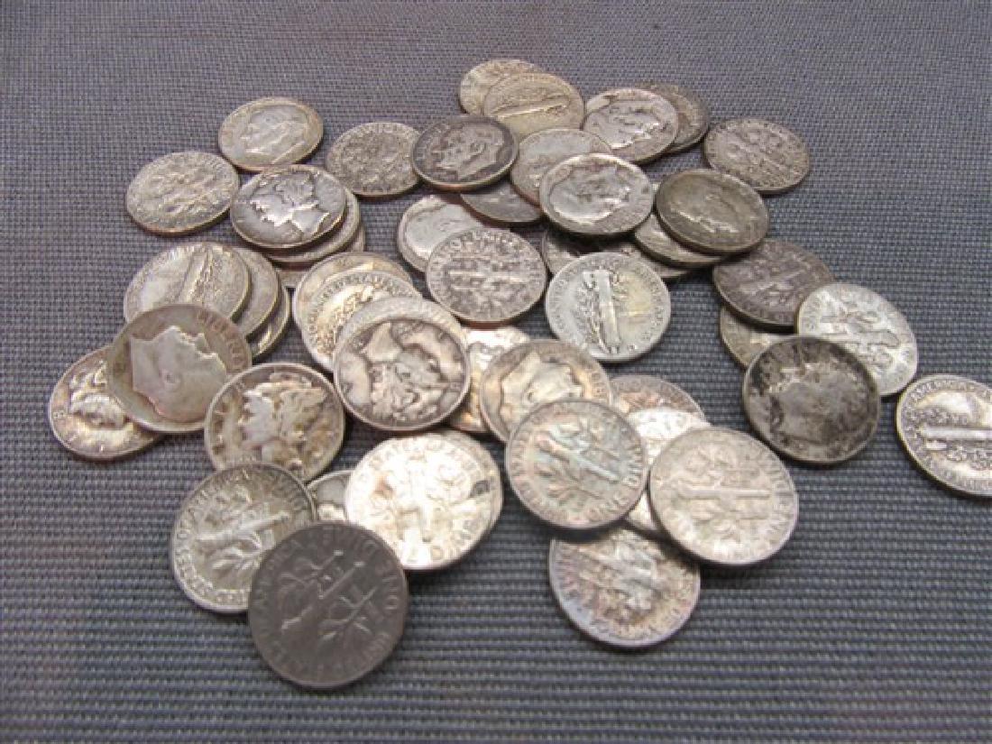 Forty-Nine (49) Estate Silver Dimes
