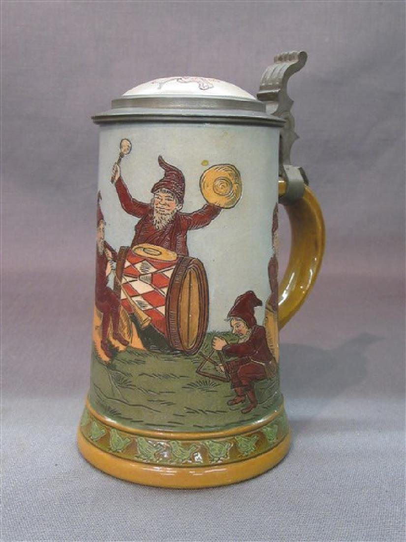 German Hauber And Reuther Beer Stein