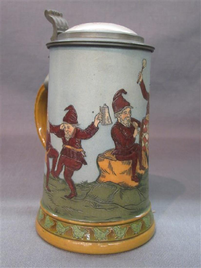 German Hauber And Reuther Beer Stein - 2