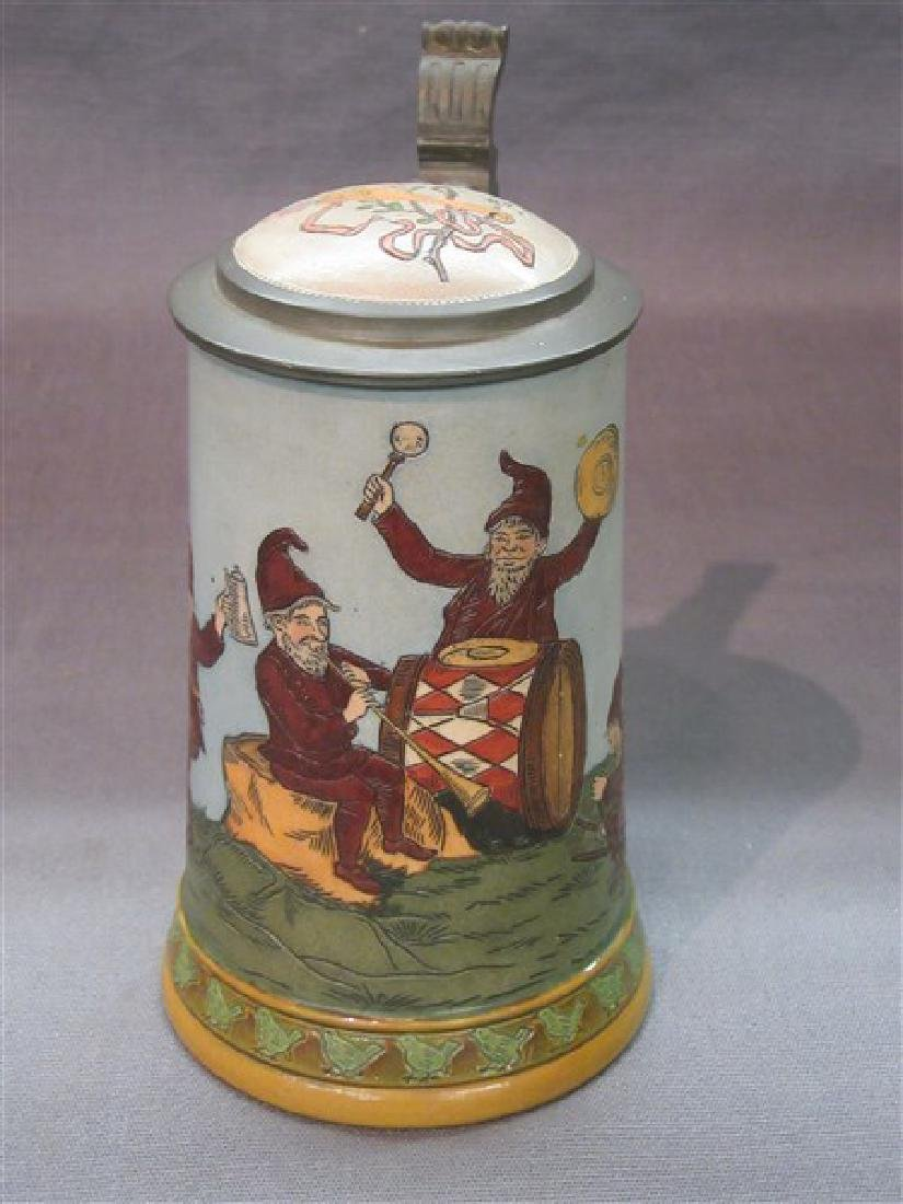 German Hauber And Reuther Beer Stein - 3