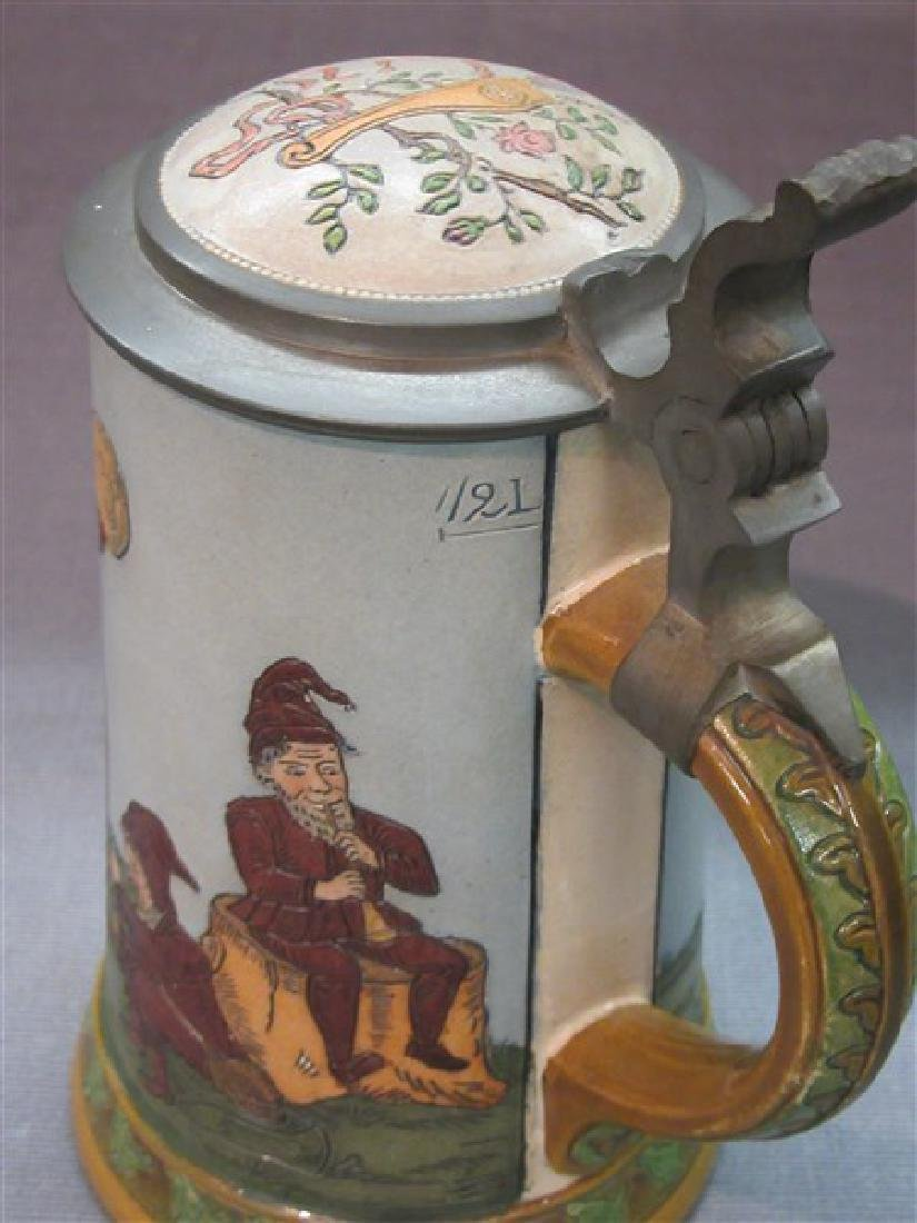 German Hauber And Reuther Beer Stein - 4