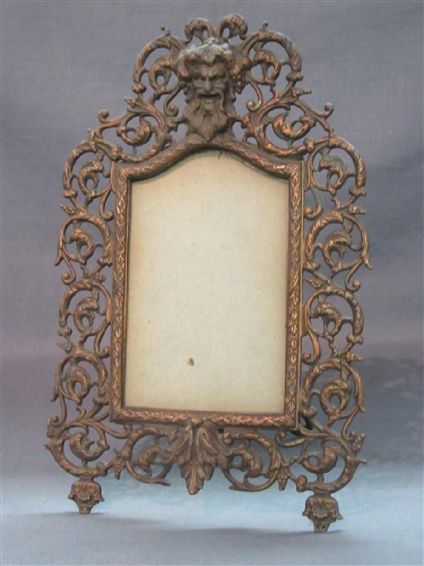Victorian Cast Iron Bacchus Easel Back Frame