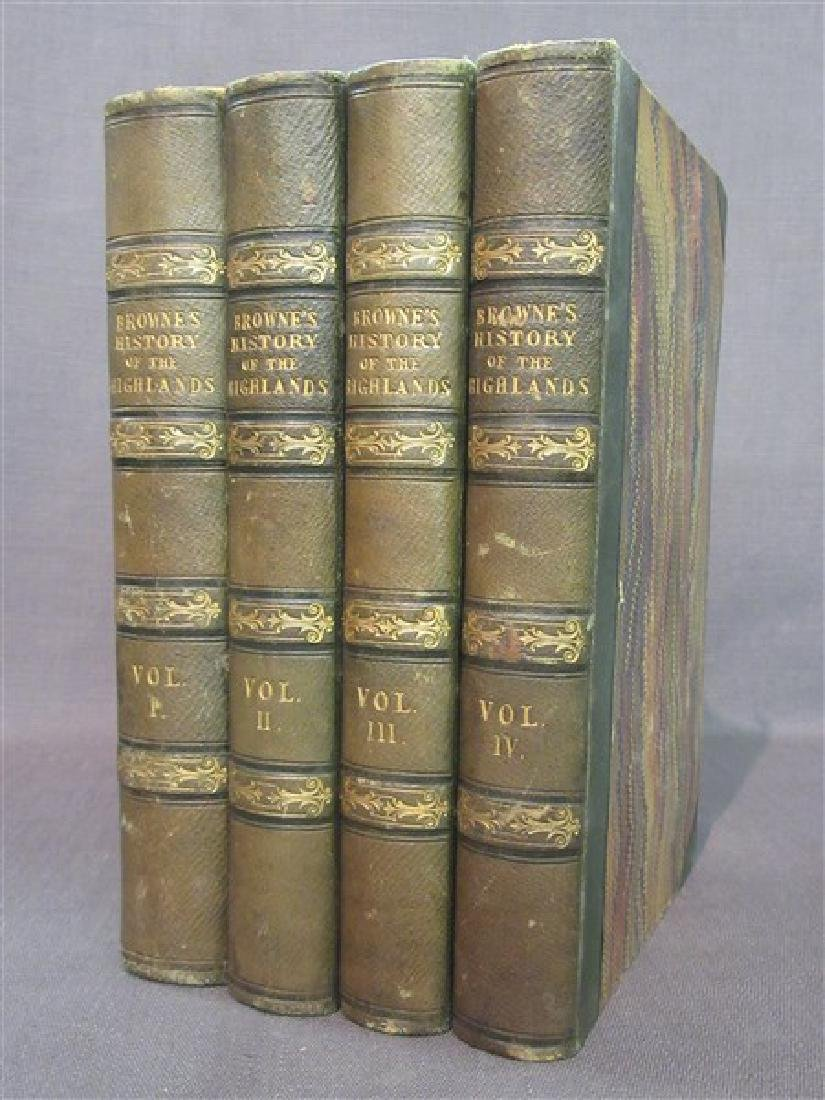 Browne's History Of The Highlands  4 Vols. 1837