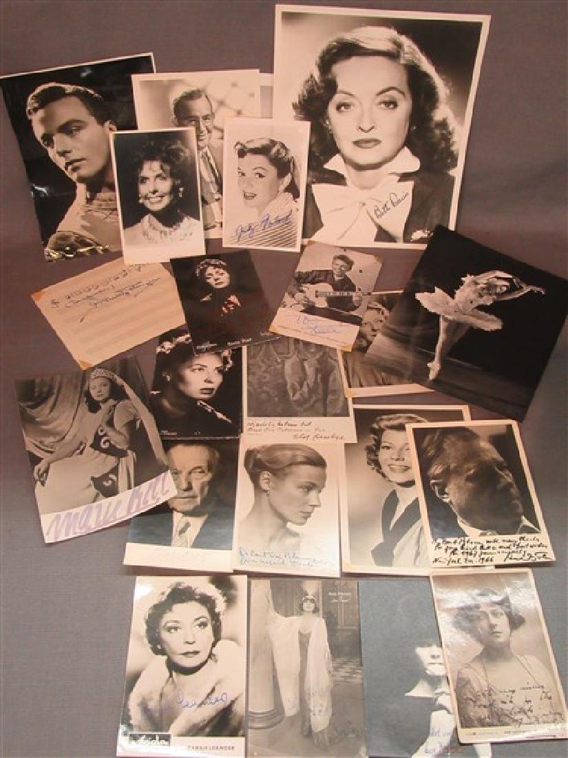 Collection Of Twenty-Two Autographs, Bette Davis