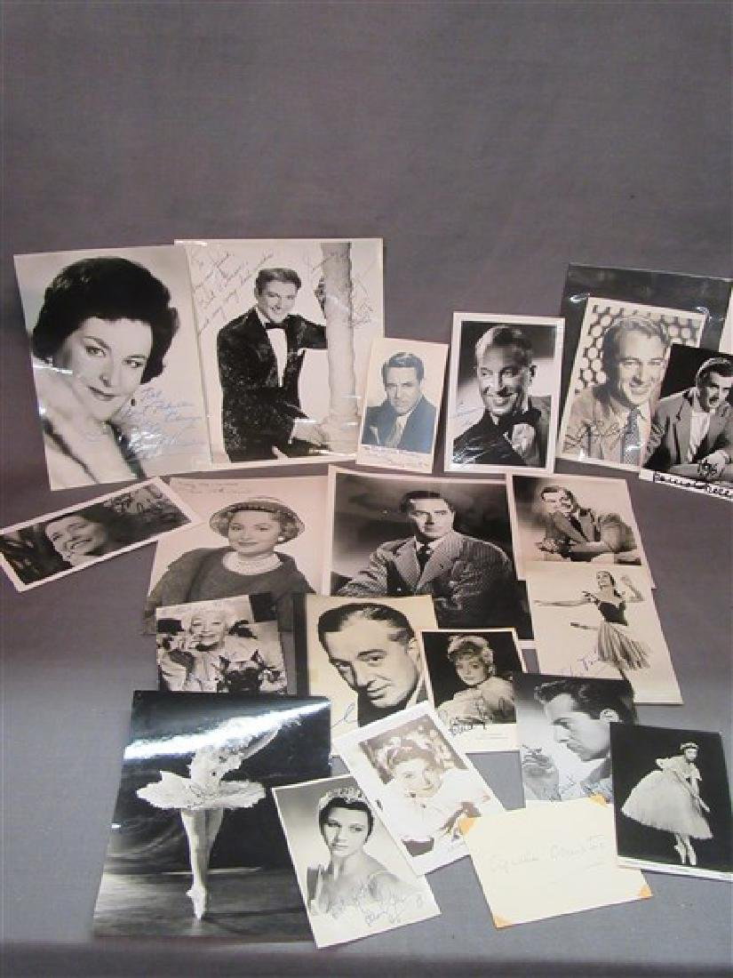 Twenty Piece Compiled Collection Of Autographs