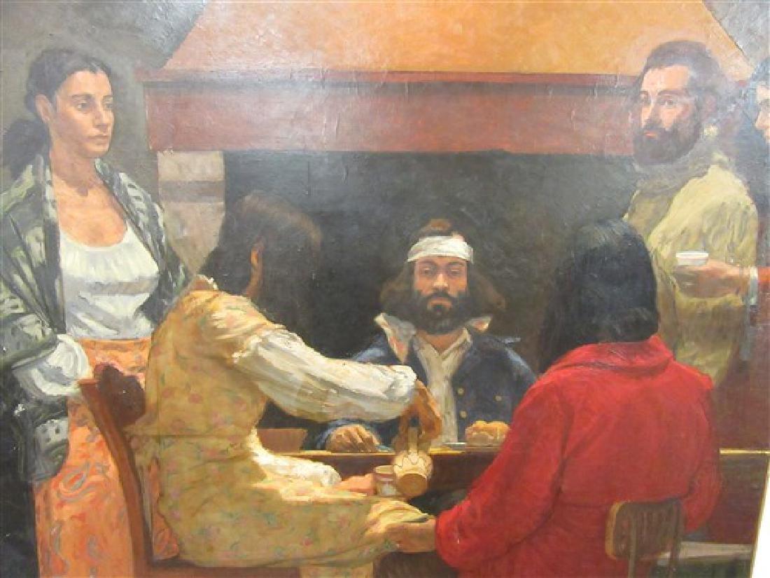 Domenic Cretara (American, b.1946) Mural Oil On Canvas
