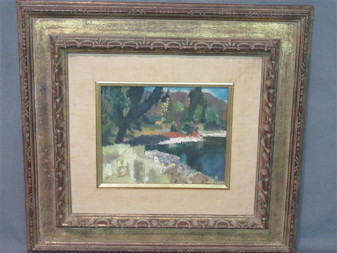 Jean Claude Aujame (French, 1905-1965) Landscape Oil