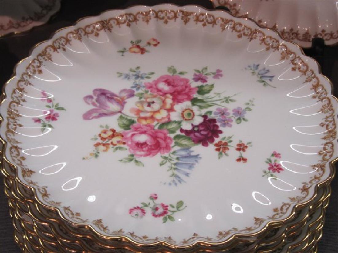 """Staffordshire """"Bouquet"""" Porcelain Dessert Service - 2"""