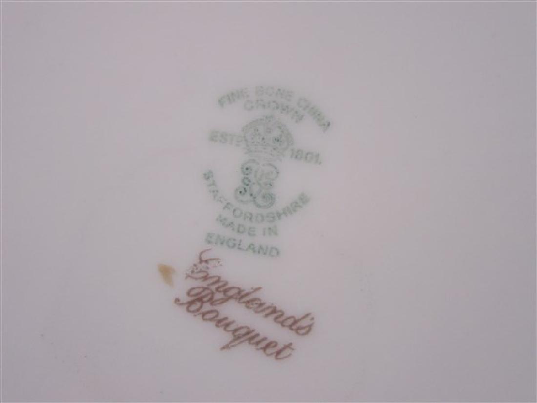 """Staffordshire """"Bouquet"""" Porcelain Dessert Service - 4"""