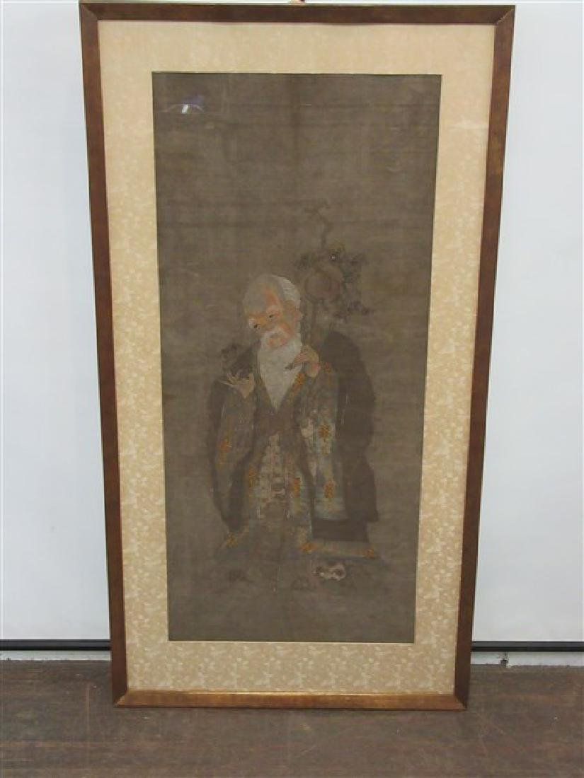 Chinese Painted And Silk Thread Kesi Shoulao Panel