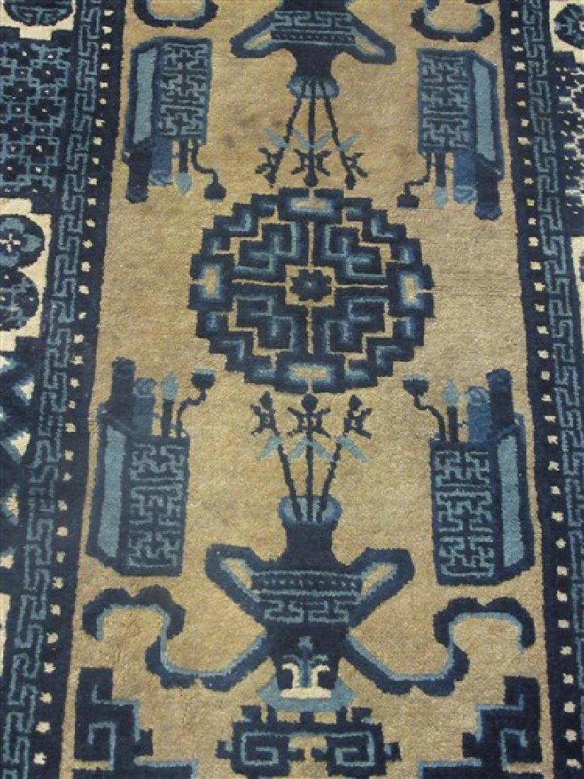 Chinese Art Deco Blue And White Carpet - 2