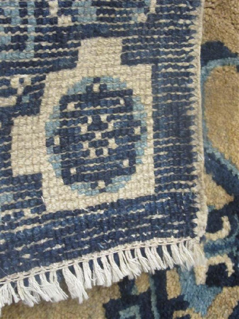 Chinese Art Deco Blue And White Carpet - 3