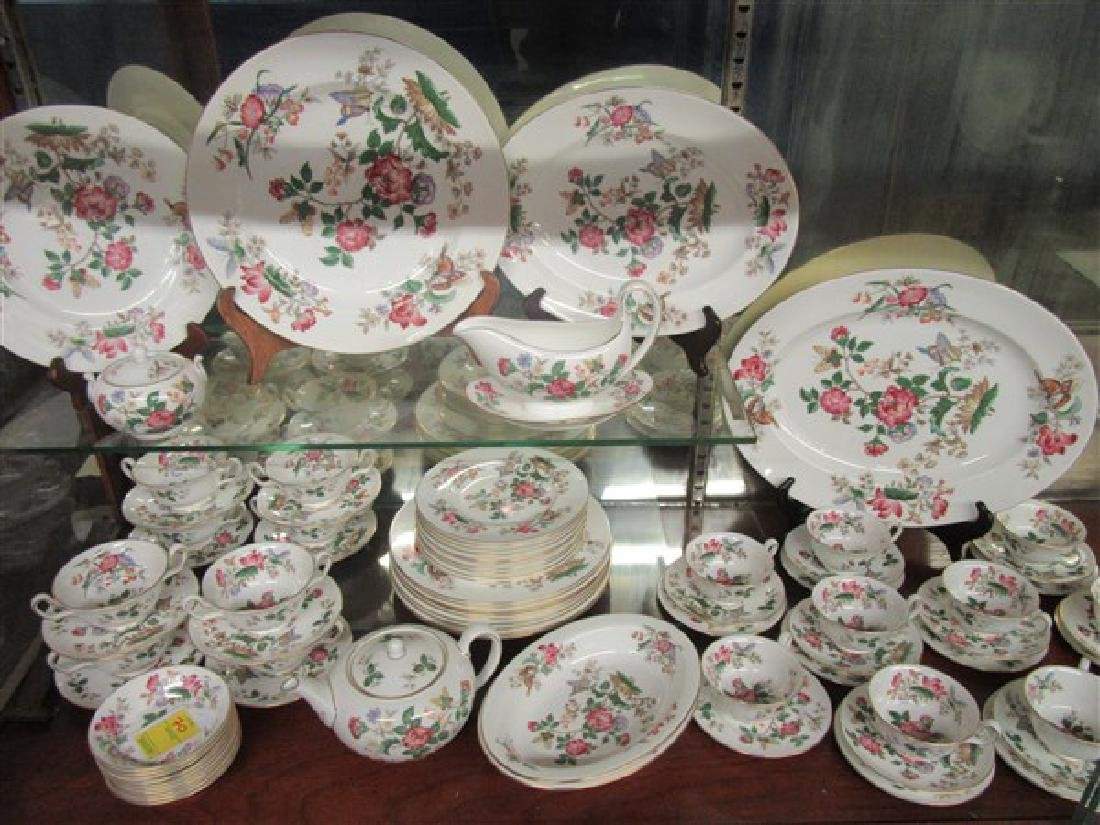 84pc. Wedgwood Charnwood Floral Porcelain China Service