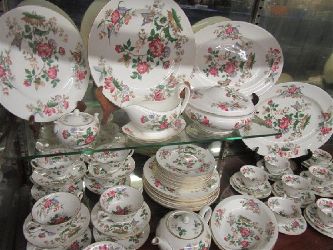 84pc. Wedgwood Charnwood Floral Porcelain China Service - 3
