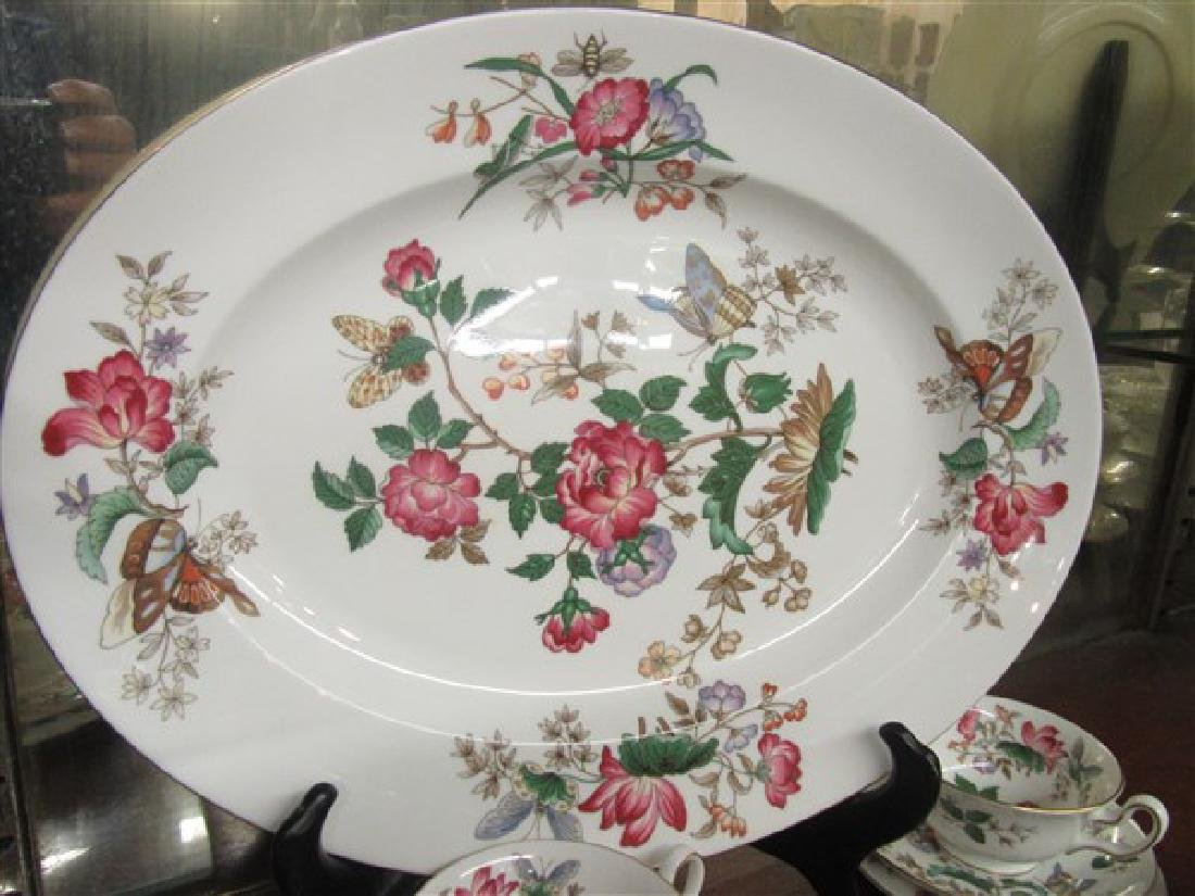 84pc. Wedgwood Charnwood Floral Porcelain China Service - 4