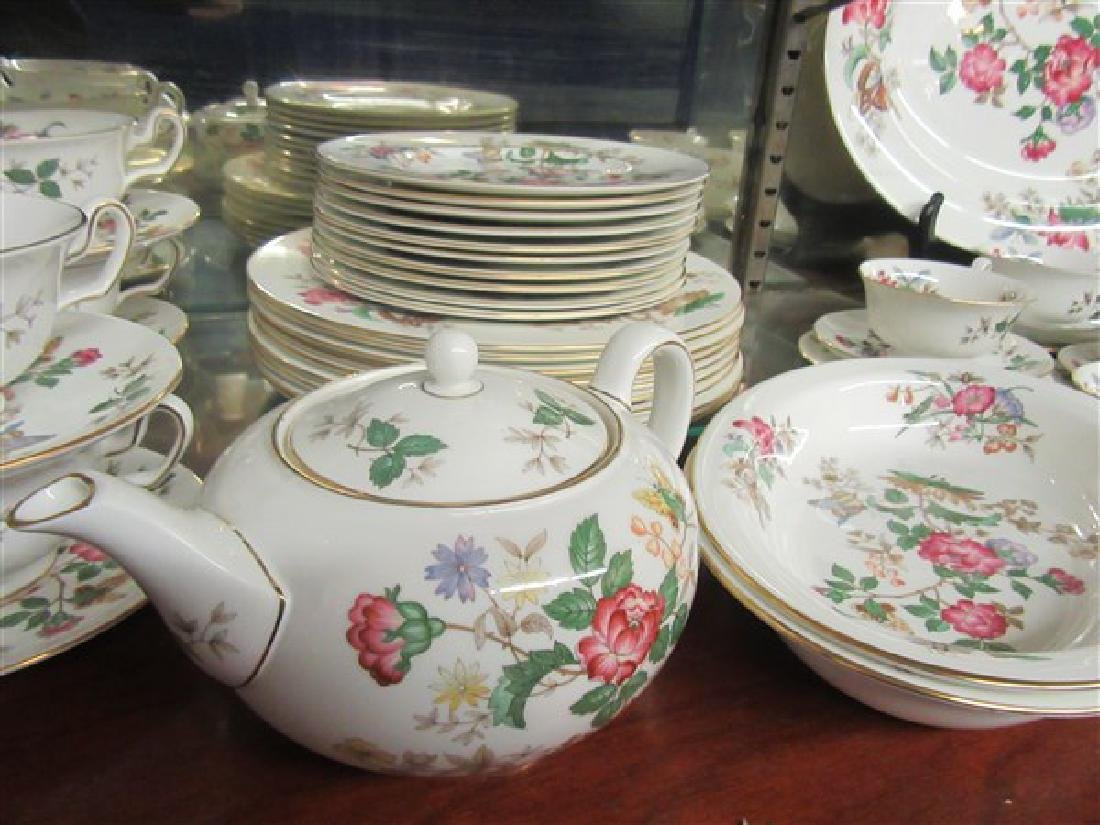 84pc. Wedgwood Charnwood Floral Porcelain China Service - 5