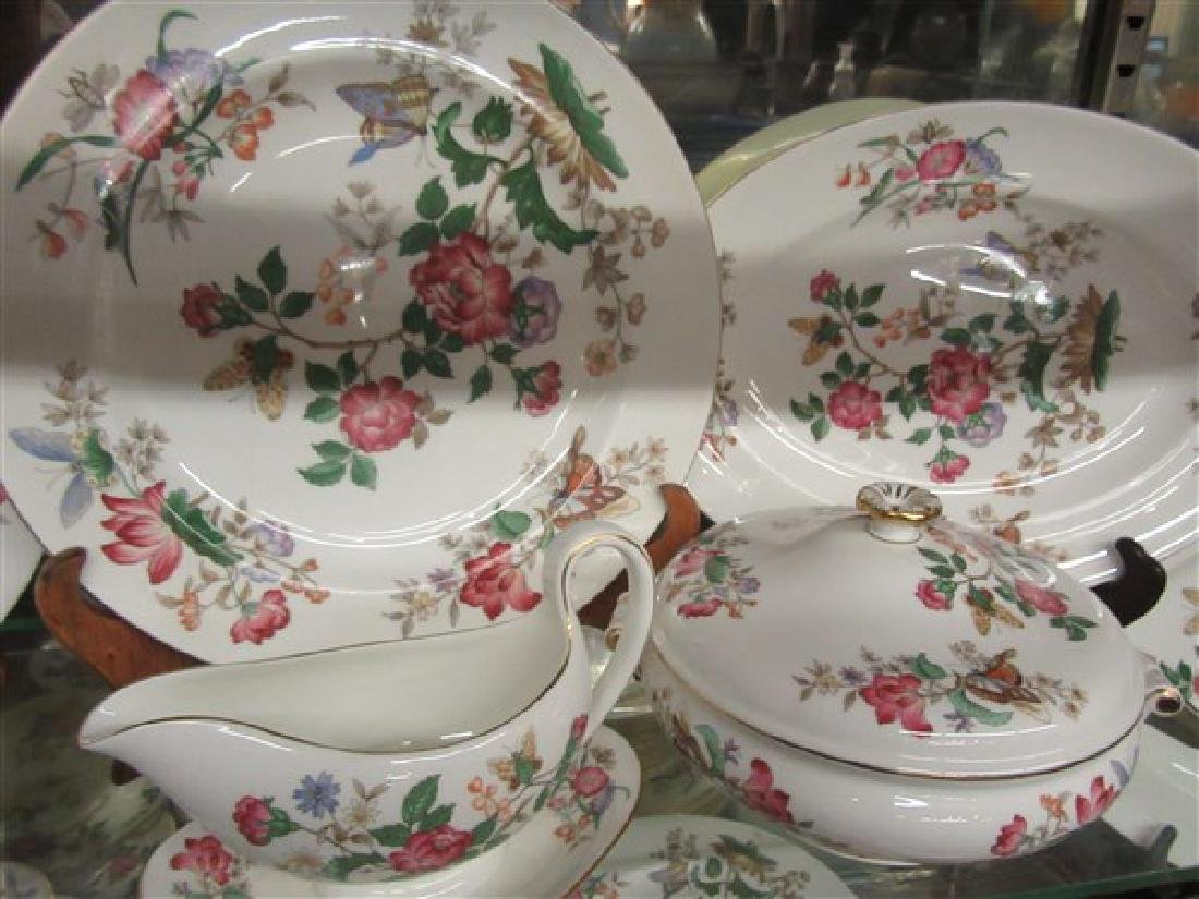 84pc. Wedgwood Charnwood Floral Porcelain China Service - 6