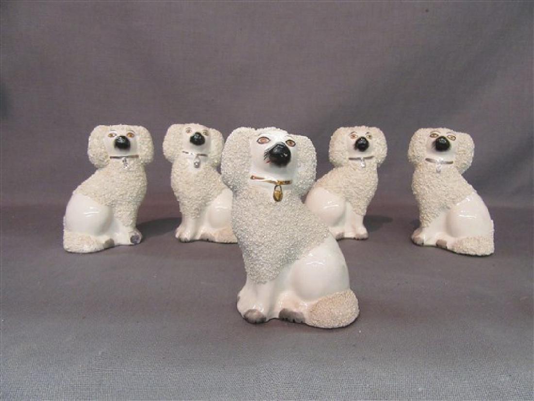 Five (5)  Staffordshire Dog Figurines