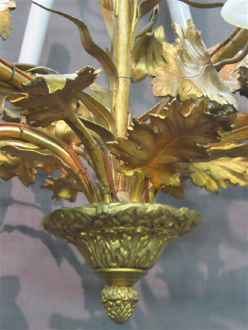 French Gilt Bronze Six (6) Arm Chandelier - 5