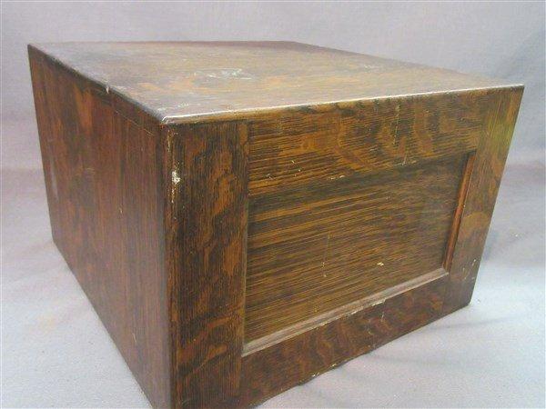 Library Bureau Solemakers Oak Index Card File Cabinet - 4