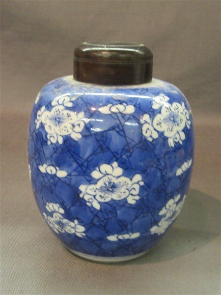 Chinese Porcelain Blue And White Ginger Jar