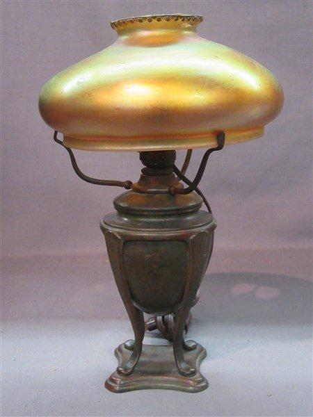Tiffany Studios Bronze Table Lamp