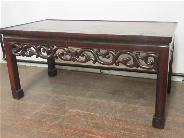 Chinese Carved Rosewood Low Table