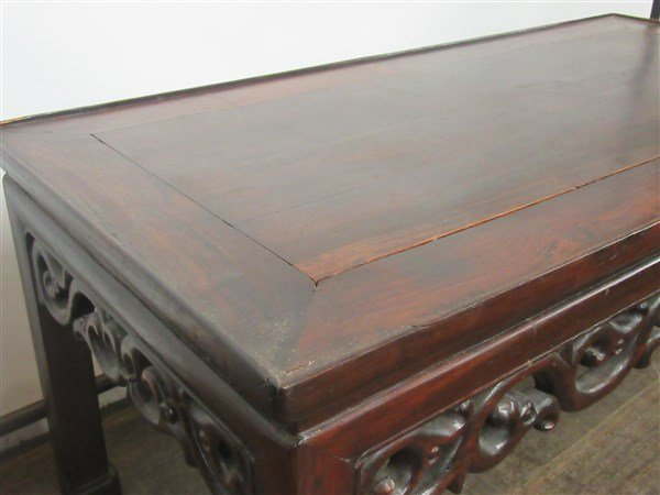 Chinese Carved Rosewood Low Table - 2