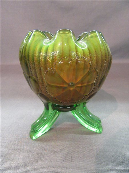 Northwood Carnival Glass Footed Vase